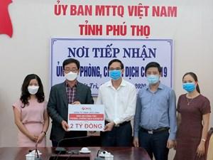 Phú Thọ: Mặt trận tiếp nhận 3,6 tỷ đồng ủng hộ phòng, chống dịch Covid-19