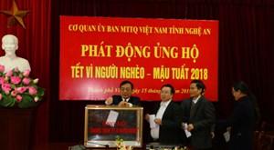 MTTQ TP Vinh:Vận động hơn 5,3 tỷ đồng giúp người nghèo
