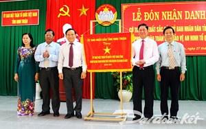MTTQ Việt Nam tỉnh Ninh Thuận đón nhận danh hiệu 'Cờ thi đua xuất sắc' 2017