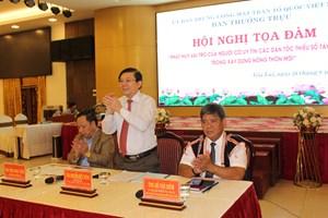 Người uy tín đóng vai trò quan trọng trong xây dựng, phát triển nông thôn mới ở Tây Nguyên