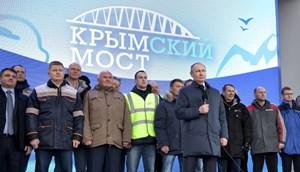 [VIDEO] Ông Putin khánh thành cầu đường sắt dài nhất châu Âu nối Nga - Crimea