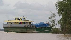Ngăn chặn khai thác cát trái phép trên sông Hậu và sông Cổ Chiên