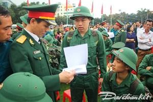 Nghệ An: Hơn 3.000 tân binh lên đường nhập ngũ