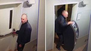 Người đàn ông tay không trộm nguyên cây ATM 130kg