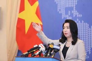 Việt Nam kiên quyết bảo vệ chủ quyền và các quyền lợi trên Biển Đông