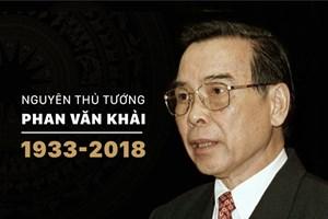Nguyên Thủ tướng Phan Văn Khải - người đi đầu trong thúc đẩy hội nhập