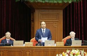 Thủ tướng Nguyễn Xuân Phúc điều hành ngày làm việc thứ nhất Hội nghị Trung ương 12 khoá XII