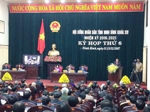 Ninh Bình: Khai mạc kỳ họp thứ 6, HĐND tỉnh khoá XIV