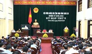 Ninh Bình:Kỳ họp thứ 6, HĐND tỉnh khoá XIV