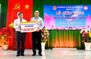 Ninh Thuận phát động ủng hộ 'Quỹ Vì người nghèo' năm 2017