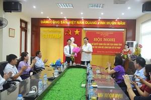 Ông Hồ Văn Vịnh được bổ nhiệm Giám đốc Sở Tư pháp tỉnh Quảng Ninh