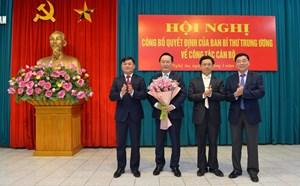 Thứ trưởng Bộ Kế hoạch và Đầu tư về làm Phó Bí thư Tỉnh ủy Nghệ An
