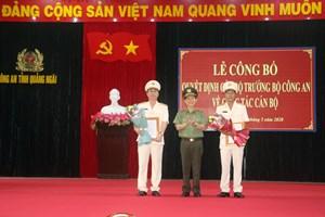 Phó Giám đốc Công an Bình Định làm Giám đốc Công an tỉnh Quảng Ngãi