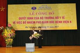 PGS TS Lê Văn Quảng được bổ nhiệm Phó Giám đốc Bệnh viện K