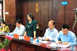 Phó Chủ tịch Bùi Thị Thanh giám sát công tác phát triển KHCN tại Long An