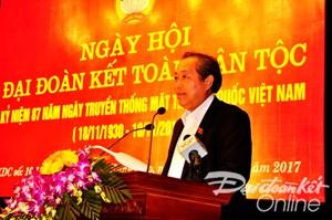 Phó Thủ tướng Thường trực Trương Hòa Bình dự Ngày hội Đại đoàn kết toàn dân tộc