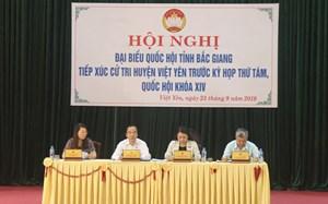 Phó Chủ tịch Ngô Sách Thực tiếp xúc cử tri tại Bắc Giang