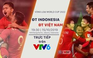 VTV sẽ phát sóng trận Indonesia - Việt Nam