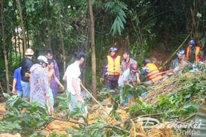 Quân khu V tham gia tìm kiếm 4 công nhân thủy điện bị núi sạt lở chôn vùi