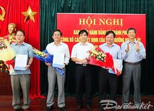 Quảng Nam: Điều động, bổ nhiệm các lãnh đạo