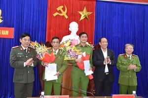 Quảng Nam: Thưởng nóng cho hai đơn vị phá hai vụ trọng án