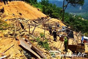 Quảng Nam: Truy quét các điểm khai thác vàng trái phép