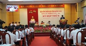 Quảng Ngãi: Khai mạc kỳ họp thứ 9, HĐND tỉnh khóa XII
