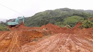 Quốc lộ 40B từ huyện Bắc Trà My đi Nam Trà My đã chính thức thông tuyến