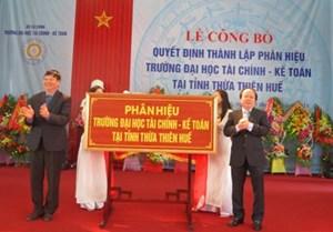 Ra mắt phân hiệu Trường ĐH Tài chính - Kế toán tại Huế