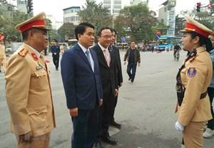 Ra quân bảo đảm trật tự an toàn giao thông trên địa bàn Thủ đô