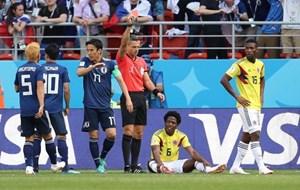 Sanchez của Colombia nhận thẻ đỏ nhanh thứ 2 lịch sử World Cup