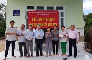 Bình Định: Xây 75 căn nhà Đại Đoàn Kết cho các hộ nghèo
