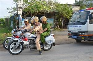 Sơn Tịnh (Quảng Ngãi): Thực hiện nhiều giải pháp hạn chế tai nạn giao thông