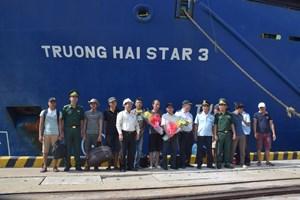 Tàu Trường Hải Star 3 cứu 9 thuyền viên gặp nạn trên biển