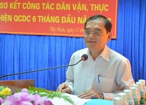 Tây Ninh bố trí Bí thư, Chủ tịch huyện không phải người địa phương