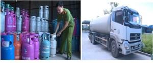 Thái Bình:Bắt quả tang cơ sở sang chiết các thương hiệu gas nổi tiếng