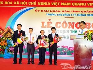 Thành lập BVĐK Trường Cao đẳng Y tế Quảng Nam