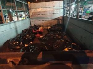 Phát hiện xe tải chở hàng trăm kg thịt gia cầm không rõ nguồn gốc