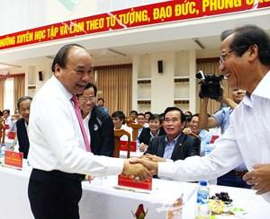 Thủ tướng Chính phủ Nguyễn Xuân Phúc gặp mặt các cán bộ lãnh đạo tỉnh Quảng Nam
