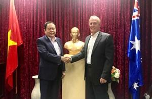 Chủ tịch Trần Thanh Mẫn thúc đẩy nhập khẩu thuỷ sản vào Australia