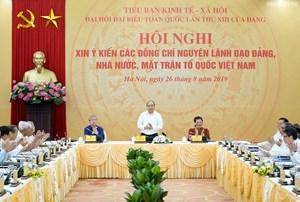 Thủ tướng nghe các nguyên lãnh đạo góp ý về Chiến lược KTXH