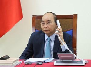 Thủ tướng Nguyễn Xuân Phúc điện đàm với Thủ tướng Thụy Điển Stefan Löfven