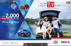 Vay mua ôtô: Sở hữu xe ôtô mơ ước với lãi suất ưu đãi từ BIDV