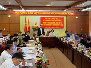Đại tướng Tô Lâm, Bộ trưởng Bộ Công an làm việc tại tỉnh Đắk Lắk