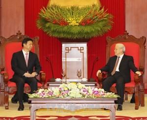 Tổng Bí thư Nguyễn Phú Trọng tiếp Đặc phái viên của Tổng Bí thư, Chủ tịch Trung Quốc