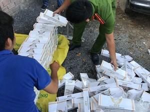 TP Hồ Chí Minh: Bắt hơn 1.200 cây thuốc lá lậu