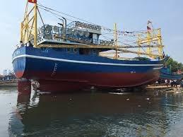 Trà Vinh: Hạ thủy tàu cá vỏ thép đầu tiên của ngư dân