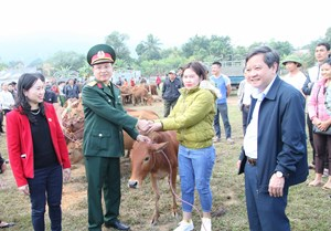 Thanh Hoá: Trao tặng 60 bò giống sinh sản cho hộ nghèo huyện Bá Thước
