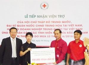 Trung Quốc hỗ trợ gần 4 tỷ đồng khắc phục hậu quả mưa lũ