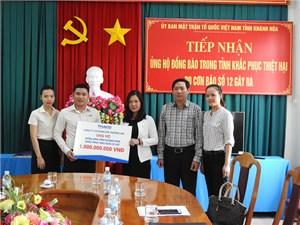 Trường Hải ủng hộ tỉnh Khánh Hòa 1 tỷ đồng khắc phục hậu quả bão số 12